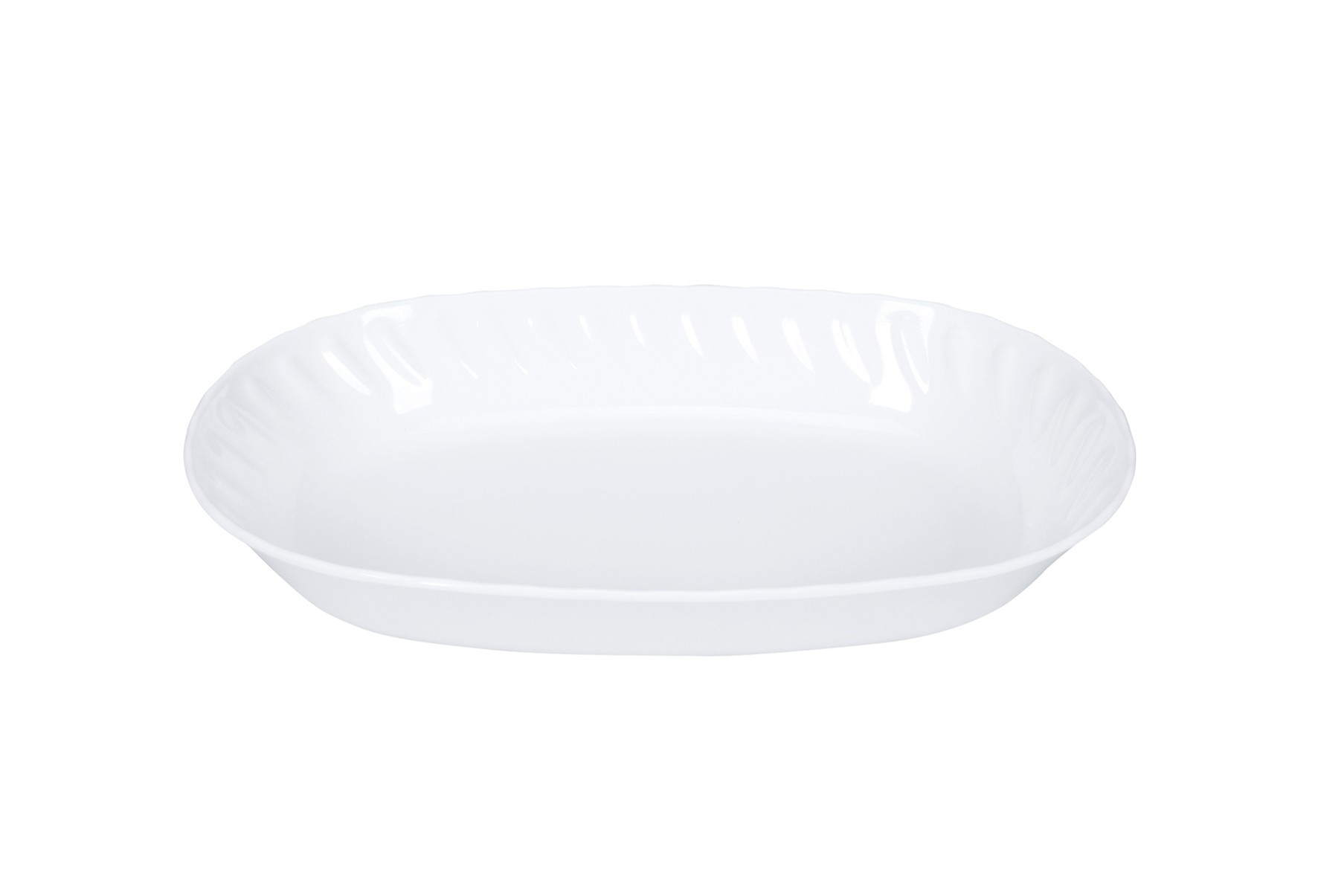 Saladeira Oval Melamine Branca 30cm - YAZI