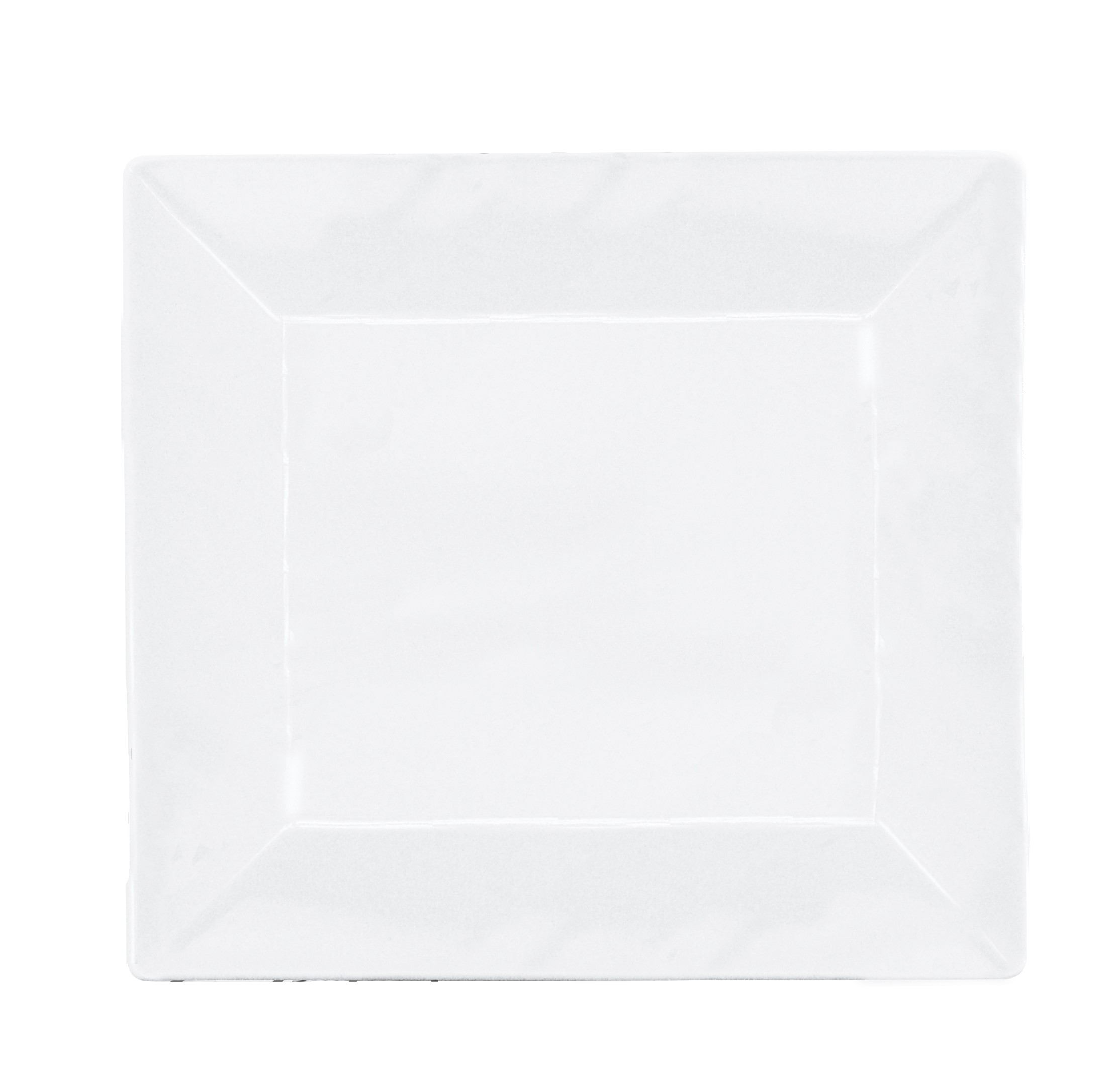 Prato Sobremesa Melamine Branca Quadrado 20cm - YAZI