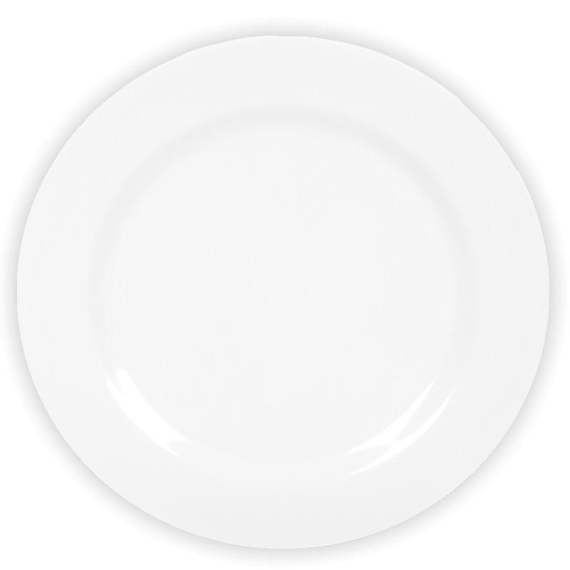 Prato Raso Melamine Branca 25cm - YAZI