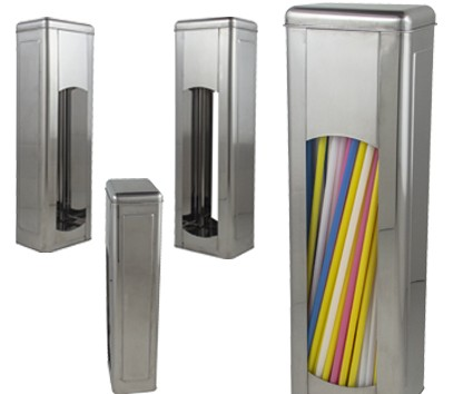 Porta Canudos retangular INOX ALLISSAN