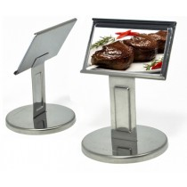 Display com pedestal medio inox allissan