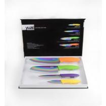 kit com 4 facas linha titanium - yuze